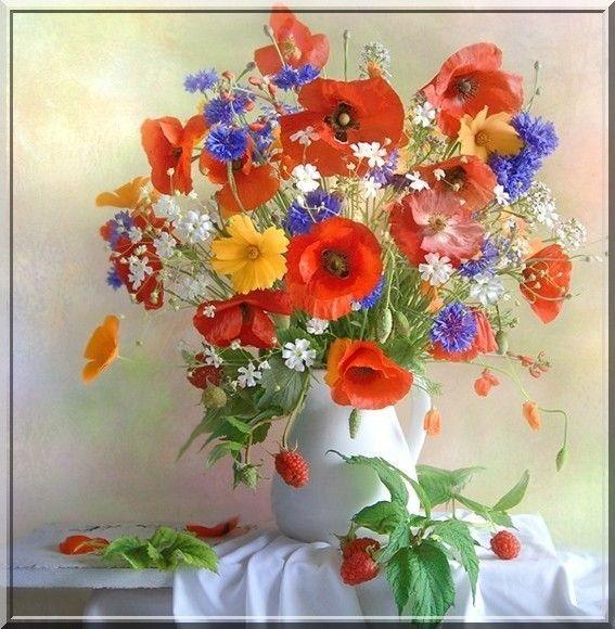 bouquet de fleurs multicolore. Black Bedroom Furniture Sets. Home Design Ideas