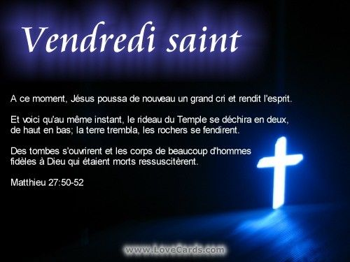 message vendredi saint