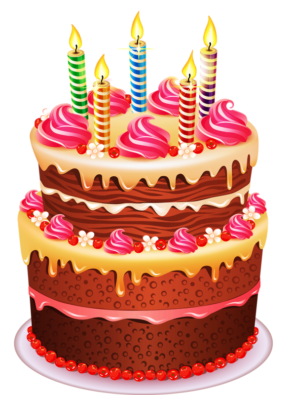 Clipart Real Birthday Cake : tube anniversaire - Page 2