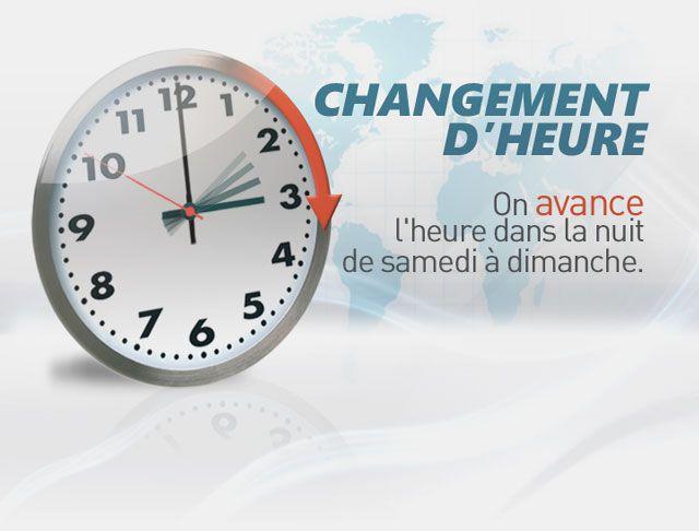 Changement d 39 heure ce dimanche 9 mars au canada canada - Date changement d heure ...